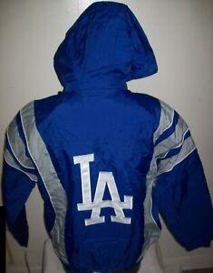 Los Angeles DODGERS Starter Hooded Half Zip Pullover Jacket S M L XL  BLUE