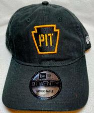 New Era 920 9Twenty Pittsburgh Penguins Pens PIT Adjustable Black Hat Cap NHL