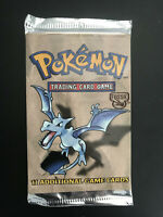 Pokemon Fossil Booster Pack Aerodactyl WOTC 1999 Factory Sealed, Mint