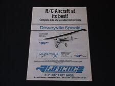 VINTAGE SIMCOE R/C AIRCRAFT MFG BROCHURE DEWEYVILLE SPECIAL - FAIRCHILD VG-COND*