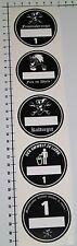 FEINSTAUBPLAKETTE 5 Stück Aufkleber Sticker Umweltplakette Kulturgut JDM Se011