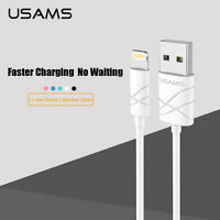 USAMS Lightning USB Charger Fast Charge Data Cable Apple iPhone, iPad and iPod