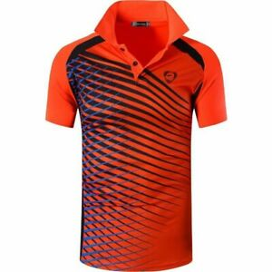 Men's Sports Shirts Golf Tennis Badminton Quick Dry Slim Fit T-Shirts Men Tops