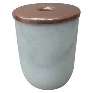 Genuine Marble Copper-Edged Taper Candle Holder - Large