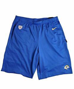 Nike LA RAMS 2020 Blue On Field NFL Shorts Size Men's Medium NKDN-4NP
