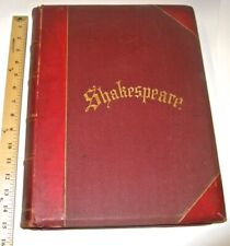 LEATHER Set;WORKS OF SHAKESPEARE!CHARLES KNIGHT(IMPERIAL EDITION!)MASSIVE FOLIO!