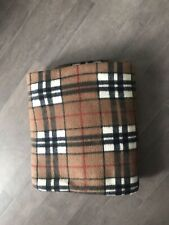 PRE OWNED DOG BLANKET. BROWN CHECK. SUPER SOFT. GOOD CONDITION.