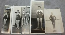 VINTAGE 6 PHOTOS OF YOUNG MEN POSING IN TIGHT BATHING SUITS 1920'S GAY INTEREST