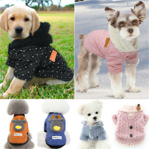 Dog Cat Small Pet Cute Cloth Winter Apparel Sweater Outfit Warmer Jumper Costume