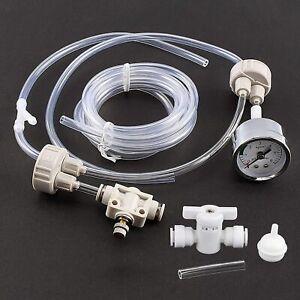 Fish & Aquarium DIY CO2 System Generator Reactor Kit Pressure Gauge Bottle Cap