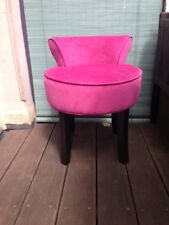 Fauteuil velours rose   NEUF