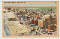 1948 Postmarked Postcard Aerial View Downtown Atlantic City New Jersey NJ