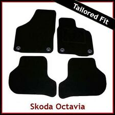 Skoda Octavia Mk2 2004-2013 Oval Eyelets Tailored Fitted Carpet Car Mats BLACK