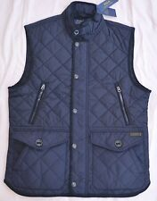 $225 New Medium M POLO RALPH LAUREN Men's diamond quilted vest Navy blue Gilet