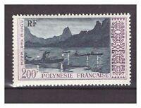 S20438) French Polynesie MNH 1958 Correo Aéreo Definitive 1v 200fr