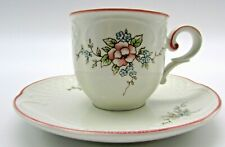 Villeroy and Boch trellis flower demitasse cup and saucer Danbury mint Germany