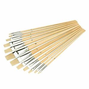 12 x Artist Paint Brushes Set Professional Brush OIL ACRYLIC WATERCOLOUR UK