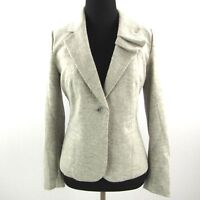 Elevenses Anthropologie Blazer Jacket Womens Size 2 Gray Wool Blend