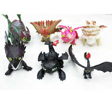 7Pcs/Set How To Train Your Dragon Figure Night Fury Toothless Child Toys