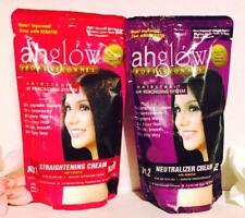 AHGLOW Hair Rebonding Set Permanently Straight Curly Hair Extra Strength Formula