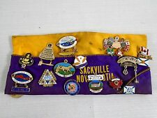 Vintage Exclusive LIONS INTERNATIONAL Hat Sackville NS Full Enamel Pin Lot of 37
