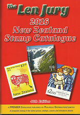 LEN JURY 2016 NEW ZEALAND STAMP CATALOGUE 1855 - 2015 COLOUR 46th EDITION *NEW**