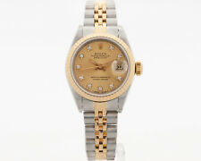 Authentic Rolex Ladies Two Tone Datejust Model 69173 w/ Factory Diamond Dial!