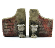 Miniature Fairy Garden Dollhouse Stone Gate Walls - 3 x 2.5 x 1 inches - Resin