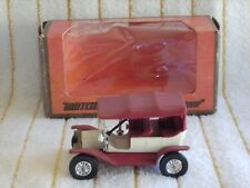 "Matchbox 1/42 Y1-2 ""1911 Ford Model ""T"" Car"" ""White/Red/Dark Red""  in It's box."