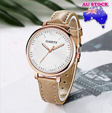 Wholesale Gold Leather Steel White Dial Quartz Watch Women Lady Wrist Watch