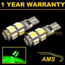2X W5W T10 501 CANBUS ERROR FREE GREEN 9 LED SIDELIGHT SIDE LIGHT BULBS SL101704