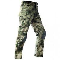 Men's Trousers Pants Tactical Combar Airsoft Military Knee Pads ATACS FG GARSING