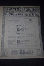 EARLY Walthers Preislied Meistersinger von Nurnberg Sheet Music by Schotts Sohne