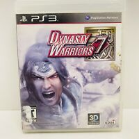 Dynasty Warriors 7 Sony PlayStation 3 2011 Complete W/ Manual- Tested -Fast Ship