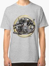 Montgomery Anzani Motorcycle engine vintage retro T Shirt INISHED Productions