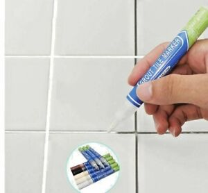 TILE GROUT PEN REVIVES & RESTORES WATERPROOF PROTECTS STAINED IN COLOURS