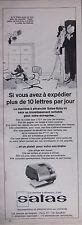 PUBLICITÉ 1967 LA MACHINE A AFFRANCHIR C'EST SATAS - DESSIN KIRAZ - ADVERTISING
