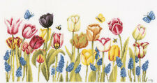 Cross Stitch Kit ~ Lanarte / Marjolein Bastin Tulips & Butterflies #PN-0155747