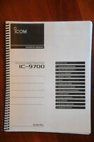 ICOM IC-9700 Advanced Instruction Manual - Coil bound and full color