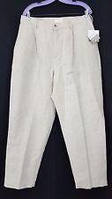 NEW ELISABETH by LIZ CLAIBORNE Tan Pant Size 18 Linen and Cotton Elastic Waist