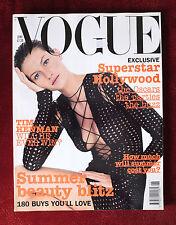 Vogue British UK ~ June 2002 + Supplement ~ Gisele Bundchen Kate Moss 14 Pages!