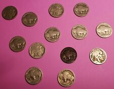 Lot 13 No Date US 5c Buffalo Indian Head Nickels for Jewelry Craft Art Projects