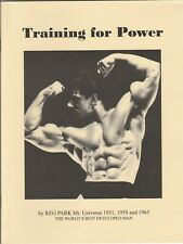 2013 Training for Power by Reg Park Paperback Book