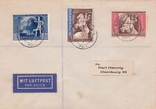 GERMANY : EUROPEAN POSTAL CONGRESS STAMP SET ON COVER (1943)