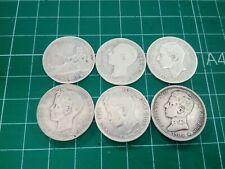 Lote de 6 Monedas De 1 Peseta En Plata (1869,1876,1883,1900,1902,1903)