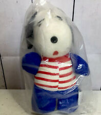 Vtg Snoopy Peanuts Plush Sutton & Sons Stuffed Beagle Dog New Old Stock 1960's