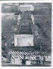1963 Pres Kennedy Funeral Procession Lincoln Memorial Bridge DC Press Photo