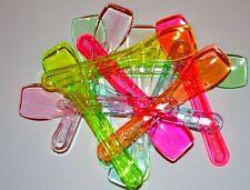 Mix Colour PLASTIC*ICE CREAM*DESSERT*SPOONS*  x 50 (FREE UK POST)