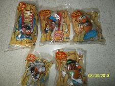 Mr. Potato Head Toy Lot of 5 - '98 Burger King Toys SEALED in pkgs