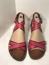 Clarks Strappy Sandals Billie Jazz Fuschia Pink Gladiator Sandals (New W Box)